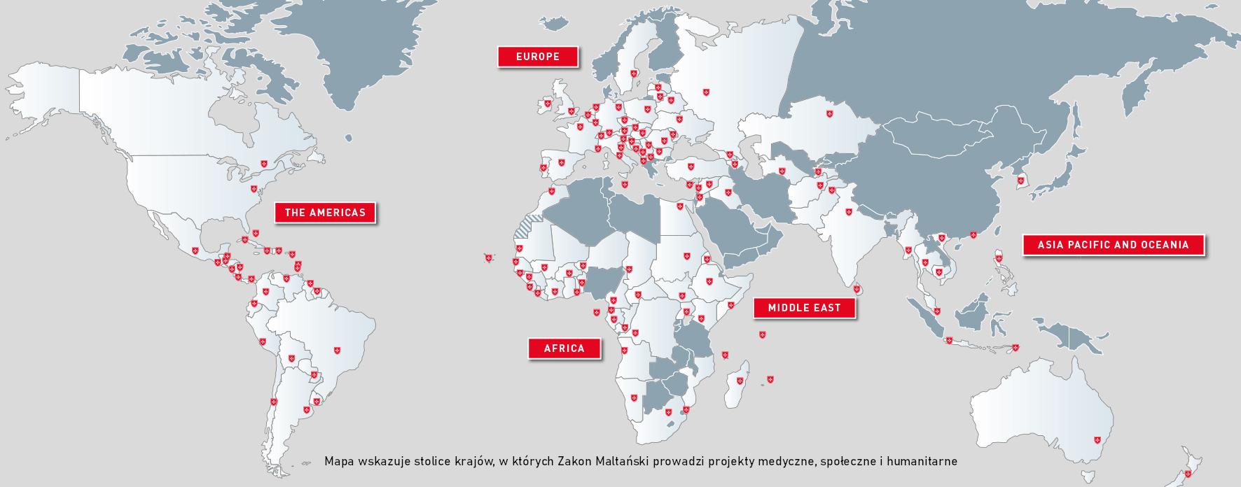 Działalność Zakonu Maltańskiego w 120 krajach